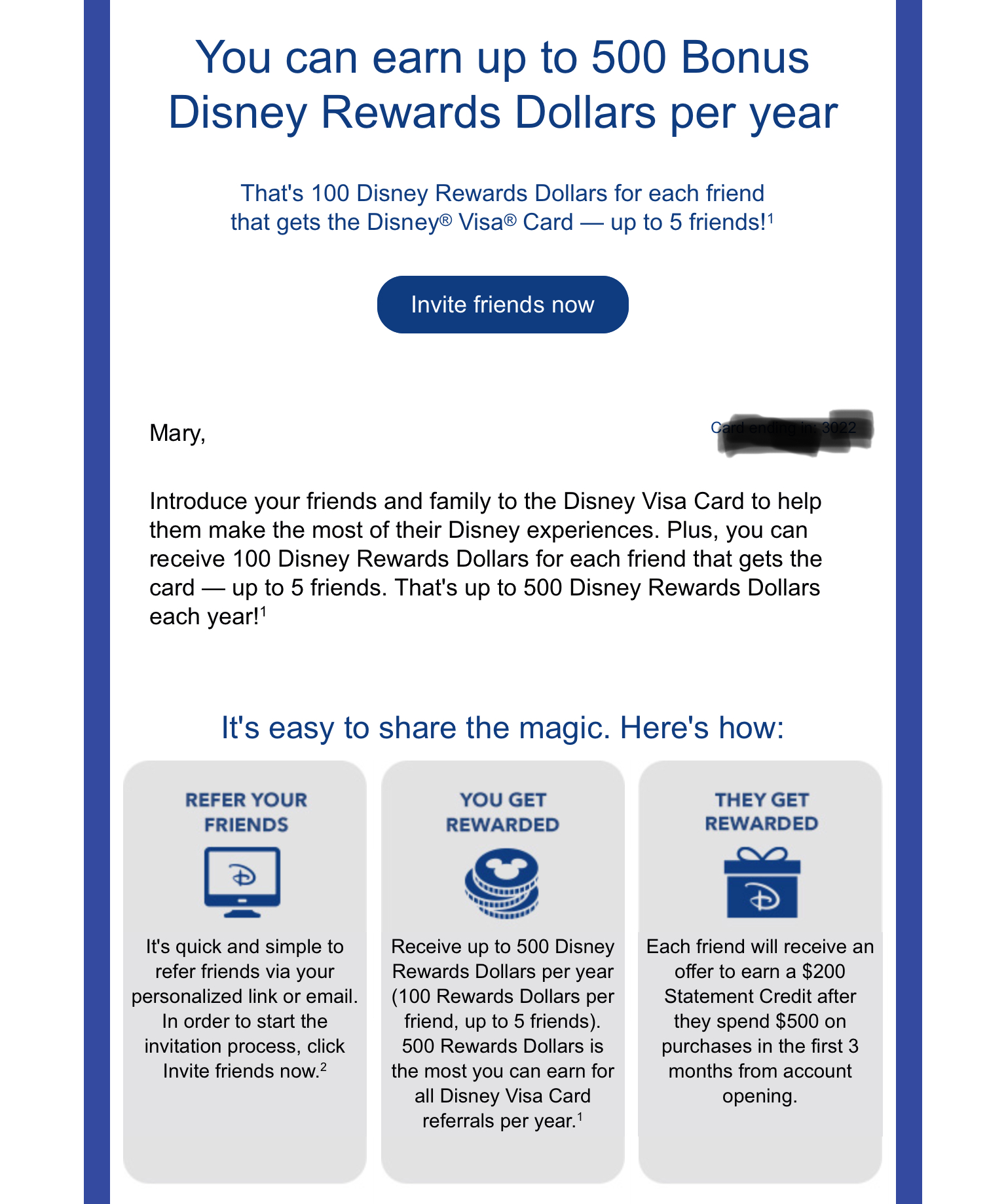 $200 Statement Credit For New Disney Chase Cardholders